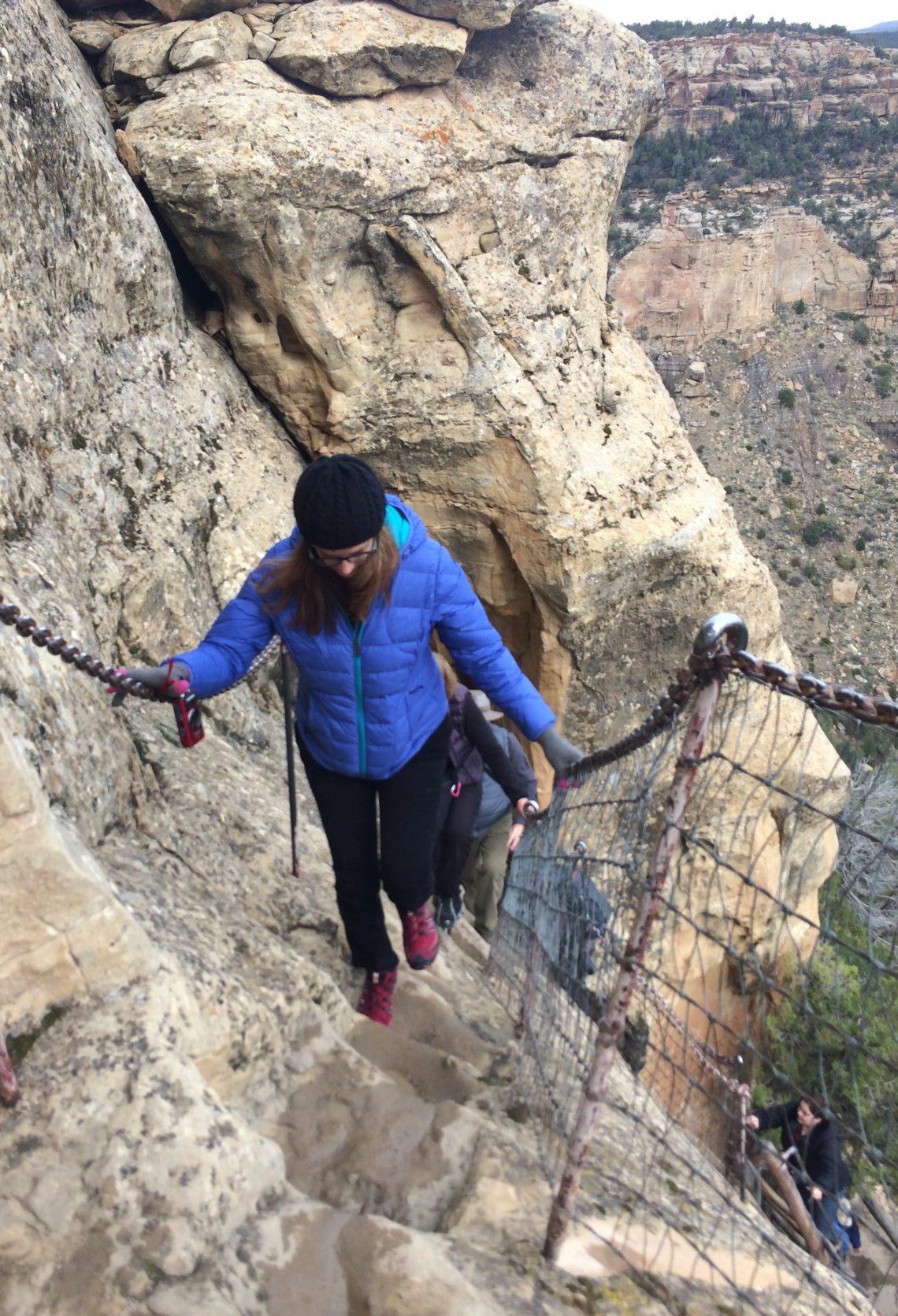 0edcdff0ee27a Maria climbing steps in Mesa Verde National Park